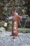 NIKKO, JAPAN - 22. FEBRUAR 2016: Japanischer Hydrant auf dem stree Stockfoto
