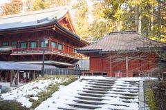 NIKKO, JAPAN - 22. FEBRUAR 2016: schöner Schrein in Rinnoji t Lizenzfreies Stockfoto