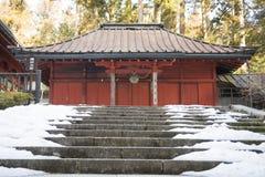 NIKKO, JAPAN - FEBRUARI 22, 2016: mooi Heiligdom in Rinnoji t Stock Afbeeldingen