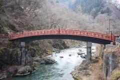 NIKKO, JAPAN - FEBRUARI 22, 2016: Rode brug Shinkyo in Japan Stock Afbeeldingen