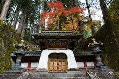 Nikko Japan, i höst Arkivfoto