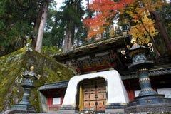 Nikko Japan, i höst Arkivbild