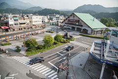NIKKO, JAPAN - JUNE 18: In front of Nikko Tourist Information Ce Royalty Free Stock Images