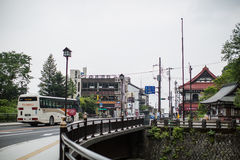 NIKKO, JAPAN - JUNE 18: In front of Nikko Tourist Information Ce Royalty Free Stock Image