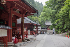 NIKKO, JAPAN - JUNE18, 2014: Toshugu Shrine. Toshogu Shrine is t royalty free stock photo