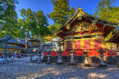 Architecture of Toshogu Shrine temple in Nikko Royalty Free Stock Photos