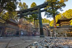 Architecture of Toshogu Shrine temple in Nikko, Japan Royalty Free Stock Photography