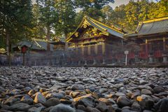 Architecture of Toshogu Shrine temple in Nikko, Japan Stock Photography