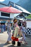 NIKKO, JAPANNIKKO, GIAPPONE - 26 luglio 2015: Parata della geisha ad Edo W fotografia stock libera da diritti