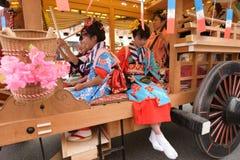 NIKKO, JAPON - 16 AVRIL : Les habitants de Nikko célèbrent le festiva de Yayoi Photographie stock