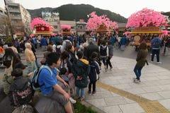 NIKKO, JAPON - 16 AVRIL : Les habitants de Nikko célèbrent le festiva de Yayoi Photographie stock libre de droits