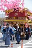 NIKKO, JAPON - 16 AVRIL : Les habitants de Nikko célèbrent le festiva de Yayoi Image stock