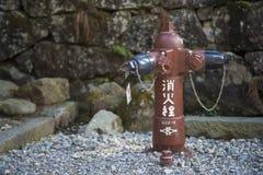 NIKKO JAPONIA, LUTY, - 22, 2016: Japoński hydrant na stree Obrazy Royalty Free