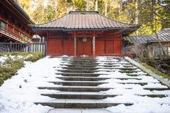 NIKKO JAPONIA, LUTY, - 22, 2016: piękna świątynia w Rinnoji t Zdjęcia Royalty Free