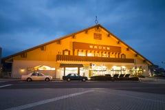 NIKKO JAPONIA, LUTY, - 21, 2016: stacja kolejowa na Tobu N Zdjęcia Royalty Free