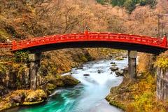Nikko sakral bro, Japan royaltyfri bild