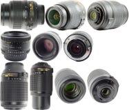 Nikkor Lenses. (Kit, Prime, Zoom) For Nikon Digital Cameras Royalty Free Stock Photos