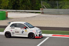Niklas Liljia Abarth Trophy Fiat 2015 500 em Monza Fotos de Stock Royalty Free