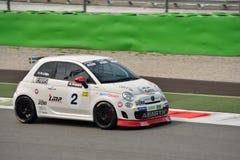 Niklas Liljia Abarth Trophy Fiat 2015 500 em Monza Fotografia de Stock