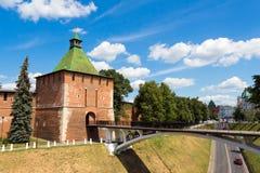 Nikol'skaya torn (Nicholas), Kreml, Nizhegorodskiy distri Royaltyfri Foto