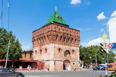 Nikol'skaya torn (Nicholas), Kreml, Nizhegorodskiy distri Arkivfoton