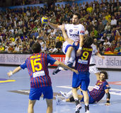 Nikola Karabatic in action Stock Photos