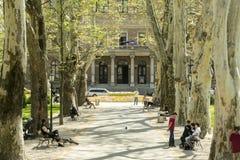 Zrinjevac park in Zagreb, Croatian caputal Stock Photo