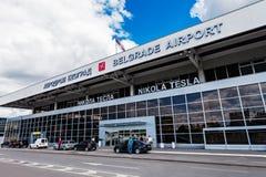 Nikola Tesla Airport, Belgrad, Serbien. Lizenzfreie Stockfotografie