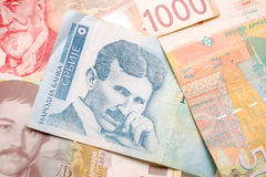 Nikola Tesla 100 dinar bill Royalty Free Stock Photography