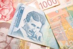 Nikola Tesla 100-Dinar-Rechnung Lizenzfreie Stockfotografie
