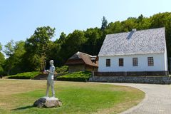 Nikola Tesla födelseort i Smilj, Kroatien Arkivbild