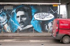 Nikola Tesla graffiti Royalty Free Stock Images