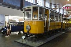 Old tramway in Nikola Tesla Technical Museum in Zagreb, Croatia Royalty Free Stock Photo