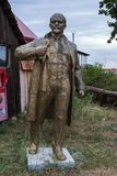 NIKOLAEV, Ukraine - CIRKA 2013: The statue of Vladimir Lenin - Ulyanov in a private private museum of abandoned Soviet-era monumen. Ts. Communist leader of the stock photo