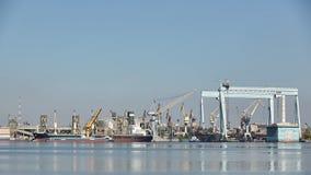 Nikolaev, Ukraine - September 30, 2016: Industrial areas of the shipbuilding yard. Royalty Free Stock Photo