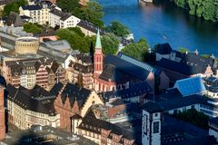 Nikolai kyrka Frankfurt royaltyfri foto