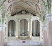 Nikolai kyrka i Tyskland Leipzig Royaltyfria Foton