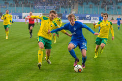 Nikolai Obolski (90) on the soccer game Royalty Free Stock Images