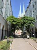 Nikolai Quarter, Berlín, Alemania imagen de archivo libre de regalías
