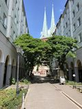Nikolai Quarter, Berlino, Germania immagine stock libera da diritti