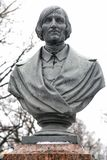 Nikolai Vasilyevich Gogol. Sculpture in the urban park Stock Photo