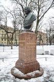 Nikolai Vasilyevich Gogol. Sculpture in the urban park Stock Image