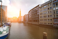 Nikolaifleet in Hamburg Stock Photography