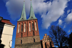 Nikolaikirche,柏林最旧的教会  库存照片