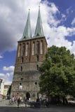 Nikolaikirche lub świętego Nicholas kościół w Berlińskim Niemcy Wrzesień 2017 zdjęcia royalty free
