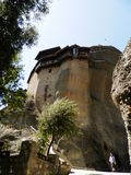 Nikolaos Anapafsas. Beautiful monasteries of Meteora, Greece Stock Photos