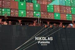 Nikolas cargo ship Royalty Free Stock Photo