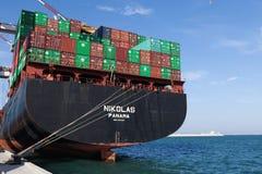 Nikolas cargo ship Stock Images