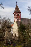 Nikolaus Church, Hegnach, Waiblingen Royalty-vrije Stock Afbeeldingen