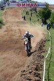 nikolay 151 kumanov的摩托车越野赛 免版税库存照片